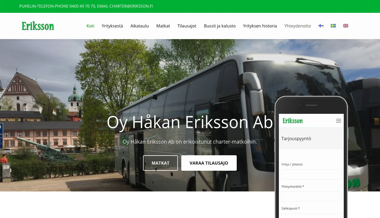 Eriksson Transport Ab –  Charter booking service