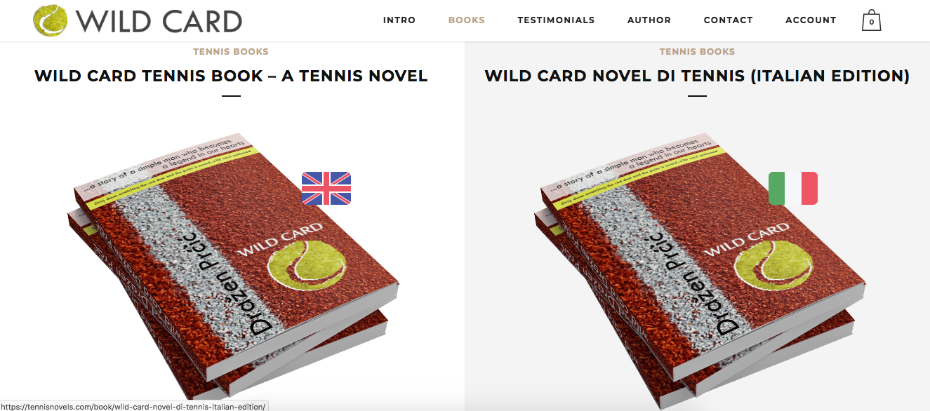 WILD CARD tennis novel